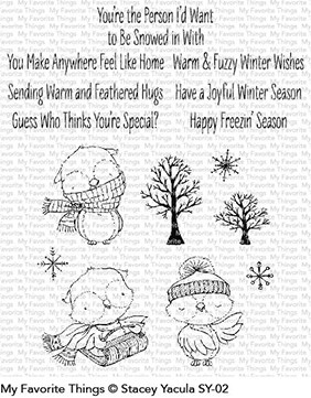 My Favorite Things - Clear Stamp - SY Warm & Feathered Hugs