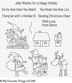 My Favorite Things - Clear Stamp - Here Comes Santa Claus