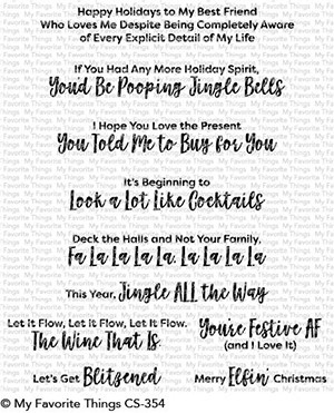 My Favorite Things - Clear Stamp - Sassy Pants Holiday