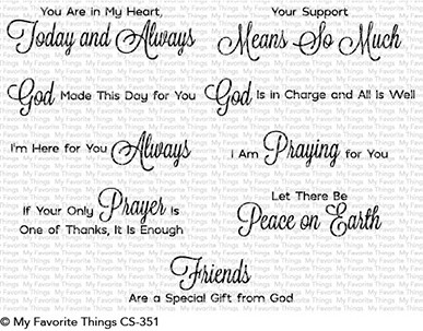 My Favorite Things - Clear Stamp - Beautiful Blessings