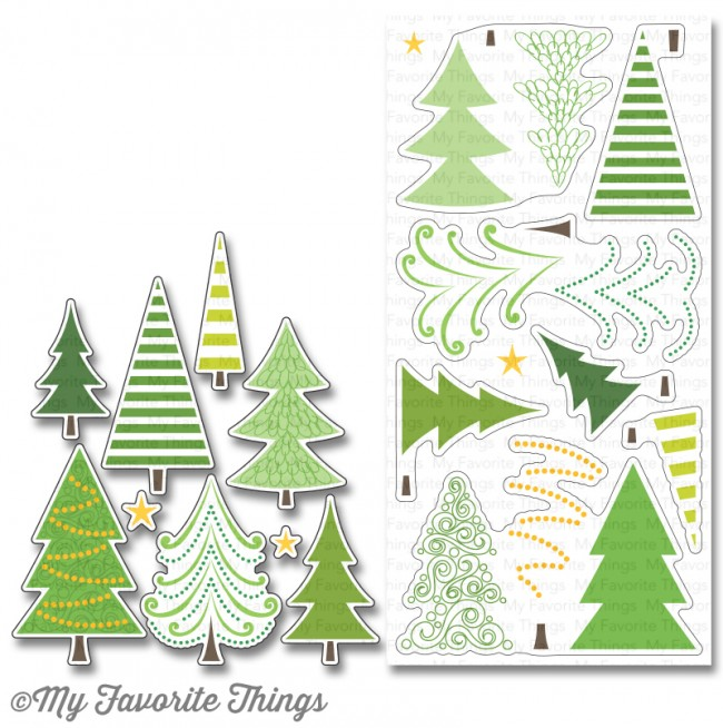 Oh Christmas Tree.My Favorite Things Clear Stamp Oh Christmas Trees