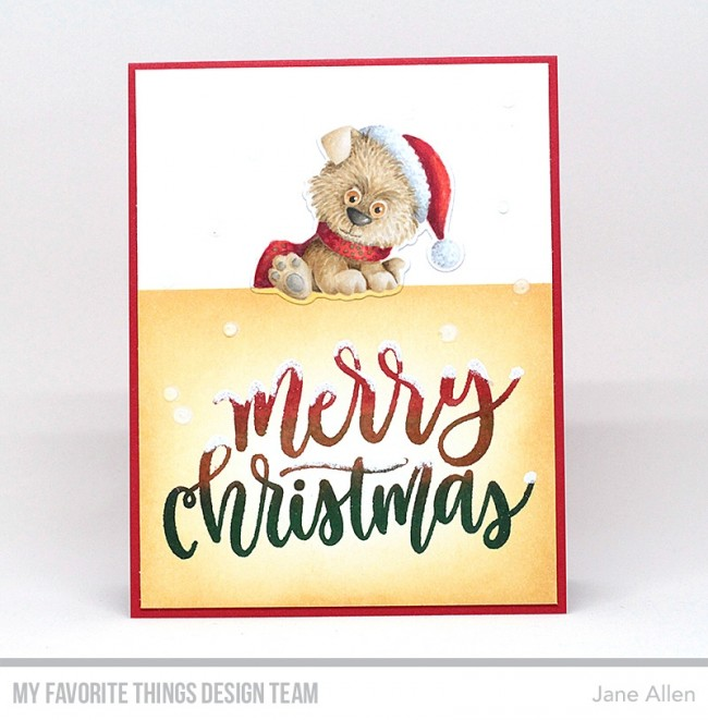 My Favorite Christmas Card >> My Favorite Things Clear Stamp Merry Christmas Greeting