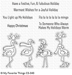 My Favorite Things - Clear Stamp - Festive Flamingos