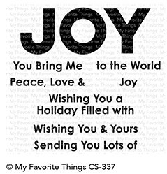 My Favorite Things - Clear Stamp - Filled with Joy