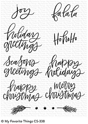 My Favorite Things - Clear Stamp - Hand Lettered Holiday Greetings