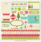 My Minds Eye - 12 Days of Christmas - Die Cut Accessories Sheet