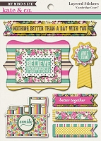 My Mind's Eye - Kate & Co. Cambridge Court Collection - Layered Stickers