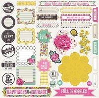 My Mind's Eye - Kate & Co. Cambridge Court Collection - 12x12 Sticker Sheet - Accessories