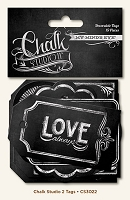 My Mind's Eye - Chalk Studio II Collection - Decorative Tags