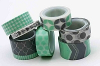My Minds Eye - Decorative Tape - Mint & Grey
