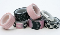 My Minds Eye - Decorative Tape - Pink & Charcoal :)