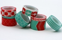 My Minds Eye - Decorative Tape - Coral & Aqua
