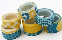 My Minds Eye - Decorative Tape - Blue & Yellow