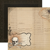My Mind's Eye - Lost & Found Halloween -  12X12 Double Sided Glittered Paper - Hallows Cottage