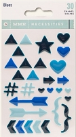 My Mind's Eye - Necessities Collection - Enamel Shapes - Blues