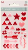 My Mind's Eye - Necessities Collection - Enamel Shapes - Reds