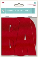 My Mind's Eye - Necessities Collection - Foil Monogram Alphas - Reds