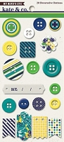 My Mind's Eye - Kate & Co. Oxford Lane Collection - Decorative Buttons
