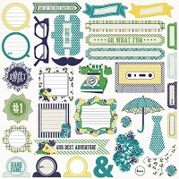 My Mind's Eye - Kate & Co. Oxford Lane Collection - 12x12 Sticker Sheet - Accessories