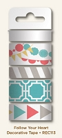 My Mind's Eye - Record It Collection by Rhonna Farrer - Follow Your Heart - Decorative Tape