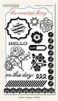 My Minds Eye - The Sweetest Thing - Tangerine - Hello - Clear Stamps :)