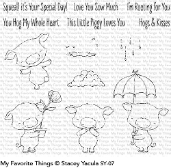My Favorite Things - Clear Stamp - SY Piggy Pebbles