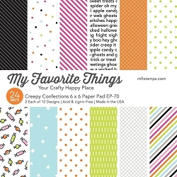 My Favorite Things - Creepy Confections 6x6 paper pad