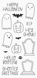 My Favorite Things - Clear Stamp - Ghostly Greetings