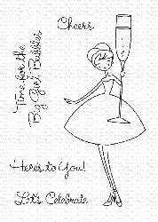 *My Favorite Things - Clear Stamp - à la modes Cheers