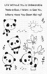 My Favorite Things - Clear Stamp - Panda Pals