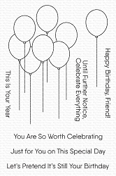 My Favorite Things - Clear Stamp - Balloon Bouquet