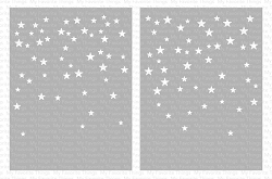 My Favorite Things - MIX-ables Stencils - Card-Sized Star Confetti Stencil Set