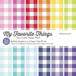 My Favorite Things - 6x6 paper pad - Buffalo Brights