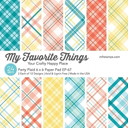 My Favorite Things - 6x6 paper pad -Party Plaids