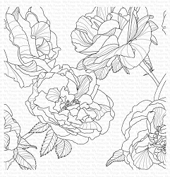 My Favorite Things - Cling Rubber Stamp - Fanciful Roses Background