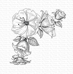 My Favorite Things - Cling Rubber Stamp - Corner Blooms