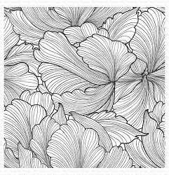 My Favorite Things - Cling Rubber Stamp - Floating Petals Background