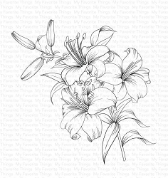 My Favorite Things - Cling Rubber Stamp - Lavish Lilies