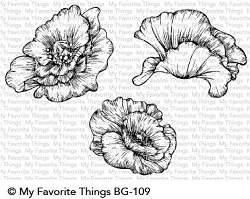 My Favorite Things - Cling Rubber Stamp - Poppy Blooms