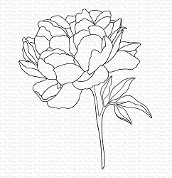 My Favorite Things - Cling Rubber Stamp - Peony Perfection