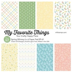 My Favorite Things - Spring Whimsy 6x6 paper pad