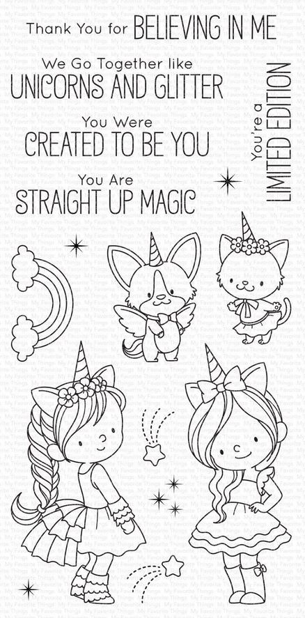 My Favorite Things - Clear Stamp - BB Unicorns and Glitter