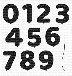 My Favorite Things - Clear Stamp - Pumped-Up Numbers