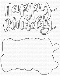 My Favorite Things - Die-namics - Hand-Lettered Happy Birthday