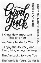 My Favorite Things - Clear Stamp - Good Luck Greetings