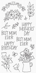 My Favorite Things - Clear Stamp - Mother's Day Bouquet