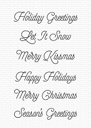 My Favorite Things - Clear Stamp - Snow Globe Greetings
