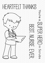 My Favorite Things - Clear Stamp - BB Super Hero in Scrubs