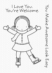 My Favorite Things - Clear Stamp - Pure Innocence Sassy Skater