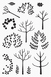 My Favorite Things - Clear Stamp - Modern Trees